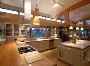 "of sustainable design of passive solar, ""green"" kitchen"